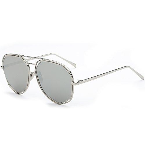 sojos Fashion Telaio in metallo per lenti a specchio occhiali da sole sj1004 argento Silver / Mirror