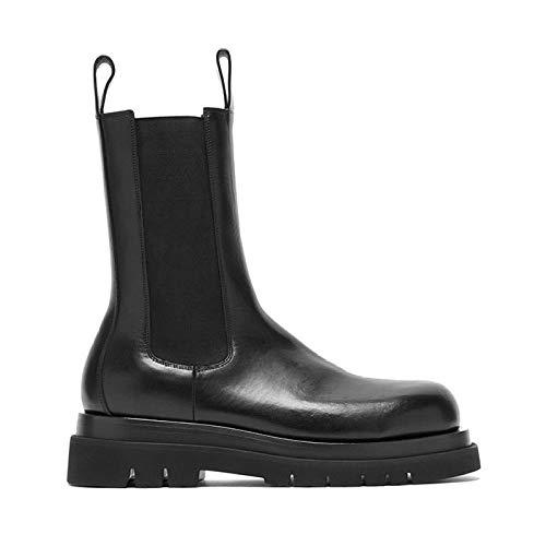 Unbekannt Plattform-Knöchel-Stiefel Damen Chunky Heel Plateau Stiefel Stiefel Frauen Martin Stiefel Winter-Schuhe Sweat-Absorbent Anti-Reibung-Winterstiefel ShanDD (Color : Winter Boots, Size : 6) -