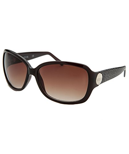 Kenneth Cole Reaction Womens Brown Rectangle Plastic Sunglass KC1179 50F