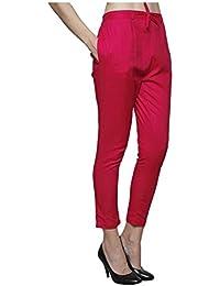 The Yuvti Fashions Cigarette Pants/Straight Pants Cotton Flex - Pink