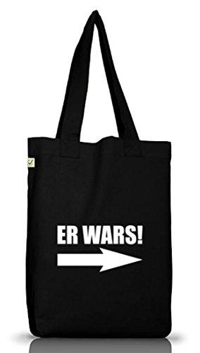 Shirtstreet24, ER WARS! Jutebeutel Stoff Tasche Earth Positive Black