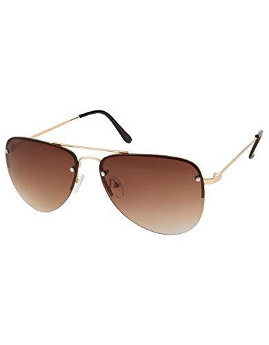 Monsoon Damen Ginnie Flieger-Sonnenbrille Piloten Sonnenbrillen - Einheitsgröße