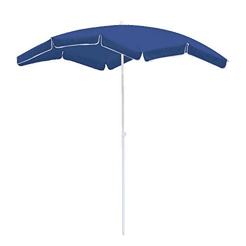 Hengda® Für Garten, Terrasse, Loggia, Balkon, Camping-Platz, Pool, Planschbecken 2*1.55m Blau Sonnenschirm Garten Schirm Marktschirm Ampelschirm Kurbel Schirm - 1 2 Sonnenschirm