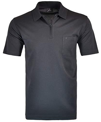 Ragman Herren Kurzarm Poloshirt, Schwarz, 4XL (Easy Care-kurzarm-shirt)