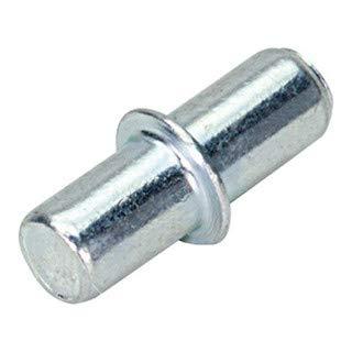 Hettich Bodenträger Ø 5 mm, Metall verzinkt, 40 Stk, 01303