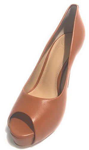 Guess Scarpe Donna Open Toe MOD. Hadie TC 120 PL 25 Pelle Marrone Tan DS18GU51 Tan