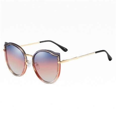 Spiegel Sonnenbrille Damen Brille Lady Round Sonnenbrille Street Beat Gafas