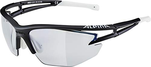Alpina Sonnenbrille Pro Line EYE-5 HR VLM+ Sportbrille, black matt-white, One Size