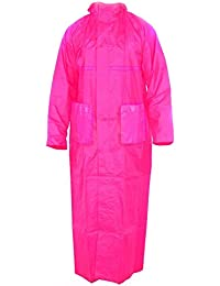 Fashion Sutra Women's Long Coat Overcoat Raincoat (Pink)