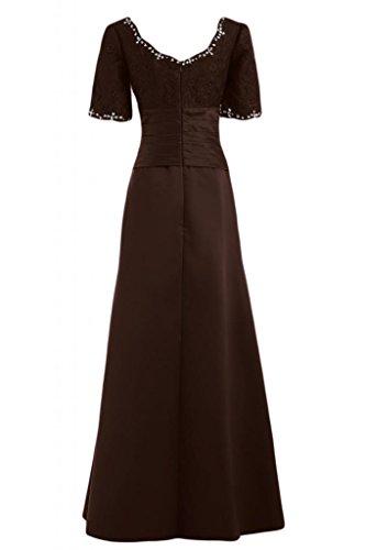 Sunvary elegante Graceful Bateau donna a maniche corte con scritta Mother of The Bride, Pageant Gowns Maxi Dresses Marrone