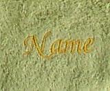 großes Saunatuch aus hochwertigem Frottee 70x200 cm Sylt limone mit Namensbestickung / bestickt mit Namen, Stickfarbe goldgelb 0311