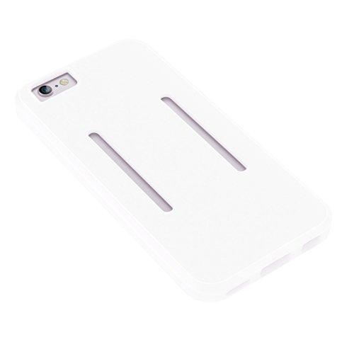 Phone case & Hülle Für IPhone 6 Plus / 6s Plus, Dual Control Sport Armband mit abnehmbarem Premium Silikon Tasche ( Color : Pink ) White