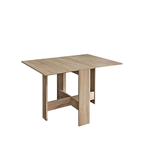 Symbiosis 2050A3400X00 Contemporain Table Pliante avec 2 Abattants Chêne Naturel 103 x 76 x 73,4 cm