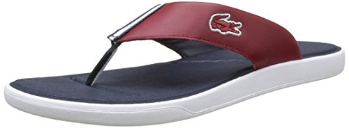 Lacoste L.30 117 1 Cam Lt, Tongs Homme Rouge (Dk Red)
