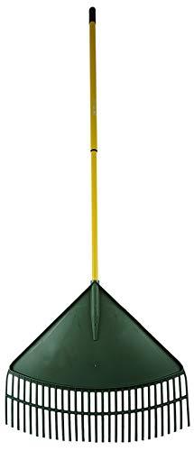 Novatool Laubrechen XL 60 cm grün Teleskopstiel Laubbesen Laubharke Fächerbesen Rechen Laubfeger Laubfächer (1, 60 cm)