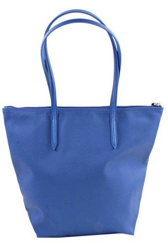 Lacoste Women Handbag Sac cabas en matière synthétique, pour femme True Blue (Bleu)