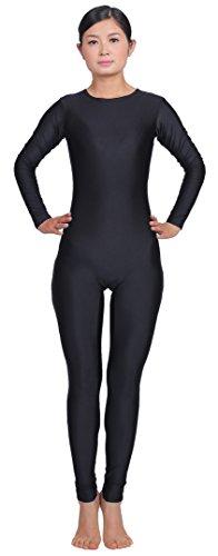 speerise-damen-long-sleeve-zip-unitard-ballett-body-lycra-dancewear-gr-m-schwarz-schwarz