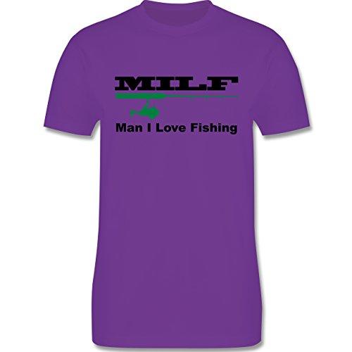 Angeln - MILF Man I Love Fishing - Herren Premium T-Shirt Lila