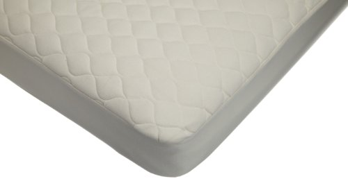 American Baby Company Organic Cotton Quilted Crib and Toddler Crib Size Fitted Mattress Pad Covers, Natural