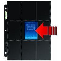 Ultra Pro 82891 - Side-Load 18-Pocket Pages, schwarz