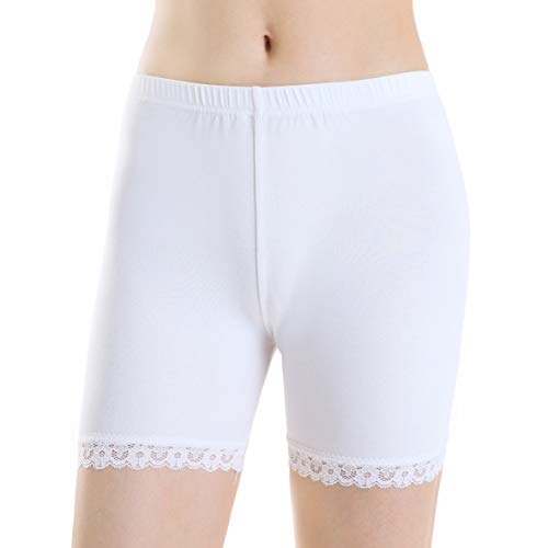Ferrieswheel Story Damen Bequeme Dünne Leggings Elegant Kurze Hose Für Kleid Yoga Tight Shorts Gym (Dope Leggings)