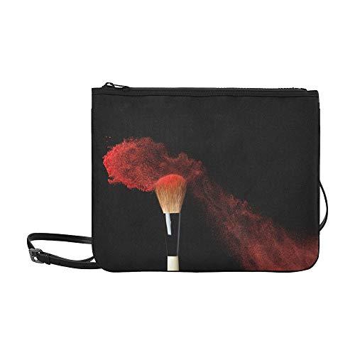 WYYWCY Abstrakte Kosmetik-Muster-kundenspezifische hochwertige Nylon-dünne Handtasche Umhängetasche Umhängetasche
