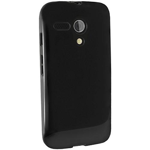 igadgitz u2948schwarz Tasche für Handy-Hüllen für Mobiltelefone (Schutzhülle, Motorola, Moto G XT1032, Schwarz)
