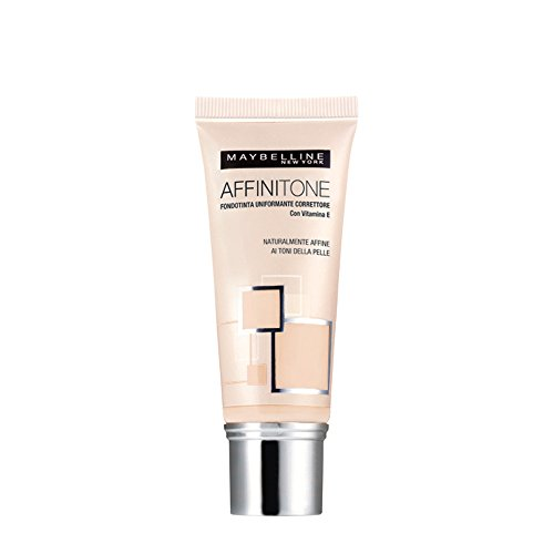 Maybelline New York Affinitone Fondotinta Liquido, 03 Light Sand Beige