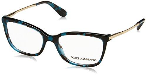 Dolce & Gabbana Brillen Für Frau 3243 2887, Cube Tortoise Petroleum Gestell aus Metall und Kunststoff, 52mm