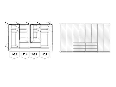 Kleiderschrank-mit-Gleittren-Panorama-Funktion-in-Trffeleiche-NachbildungGlasfront-in-magnolie8-Tren-und-6-Auszgen-Mae-BHT-ca40021658-cm