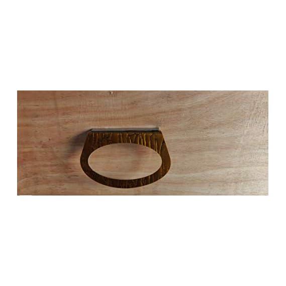 Bhavyam Multifunction Napkin Towel Stand Holder Ring for wash Basin Kitchen Bathroom(Acrylic) (Wooden Brown)