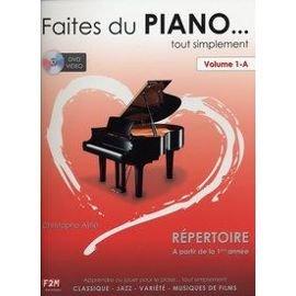 Faites du Piano Vol.1A 1st Year Book + 1 DVD