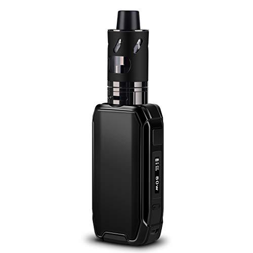 E Zigarette / E Shisha Starter Set 80W Box Mod, FREDEST X15 1-80W Elektrische Zigarette Starterset/ Vape mit 2500mAh Eingebaute Batterie, 2,0 ml /0,5 Ohm Verdampfer Tank, ohne Nikotin (Schwarz)