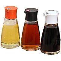 Hosaire Aceite de oliva dispensador de a prueba de fugas botella de cristal aceite vinagre Pot