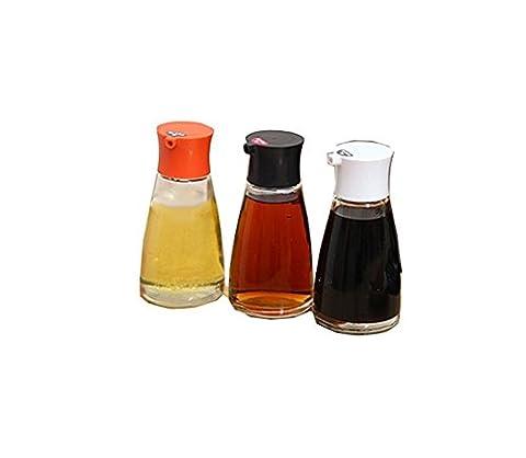 Hosaire 1X oiler soy sauce vinegar glass bottle transparent sealed leak-proof black
