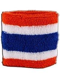 Digni® Poignet éponge avec drapeau Thaïlande, pack de 2