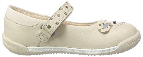 Clarks Kids Iva Pip Fst Unisex Baby Lauflernschuhe Weiß (Cream Leather)
