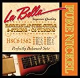 La Bella Hawaiian Lap Steel 8 Cordes Nickel C6 accordage guitare