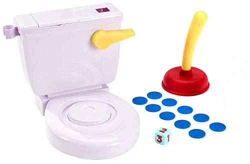 Flushin Frenzy Game Pop The Poop! (Toilet Included) Ages 5 and Up