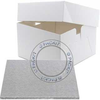 25,4 cm et boîte à gâteau carré pour mariage anniversaire