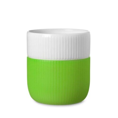 Royal Copenhagen, tazza da 0,33 con bordo in contrasto, colore: Verde