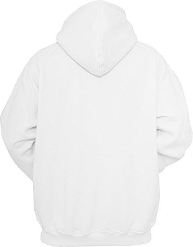 Urban Classics Sweatshirt, Hoodie Herren, Kapuzenpullover einfarbig (Pullover in vielen Farben erhältlich, ausgestattet mit Kapuze und Bauchtasche) Weiß (White 220)