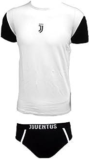 Juventus Coordinato Ragazzo Slip + t-Shirt Girocollo Cotone Elasticizzato Prodotto Ufficiale Juve Art. JU12056