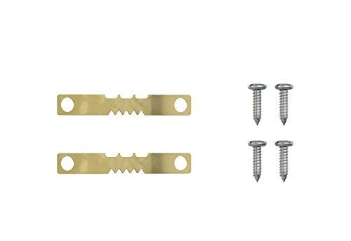 Aistuo Bildaufhänger - mit Schrauben - Aufhänger für Holzrahmen, Zackenaufhänger für...
