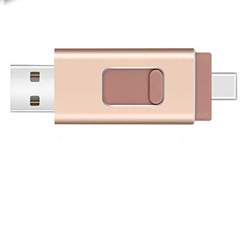 , Apple iPad 4-in-1-USB-Flash-Laufwerk für Android-Typ-C-Schnittstelle, dh Foto und Foto,128G ()