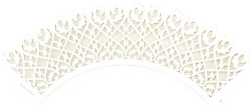 Tala Elegante Cupcake-Manschetten/Wrapper, weiß