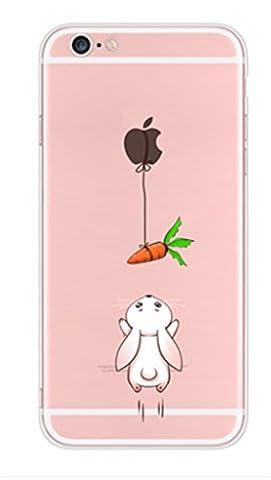 APPLE IPHONE SE 5 5S Hülle Pacyer ® Weich Silikon TPU Schutzhülle Ultradünnen Case für Apple iPhone 5 /5S/SE Schutz Hülle ( Mädchen Häschen) (1)