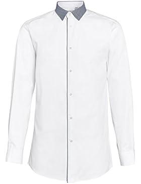 next Hombre Camisa Corte Estándar Cuello Contraste