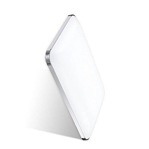 Hengda® 48W LED Deckenleuchte Panel Alu-matt Energiespar Badlampe Leuchte Designleuchte Wohnzimmer Kaltweiß 6000K-6500K