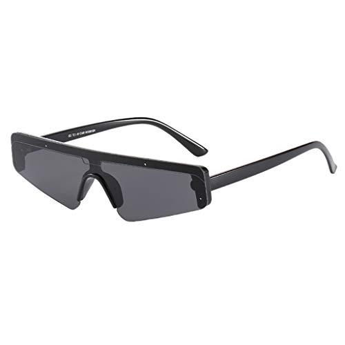 Qinsling occhiali da sole donna uomo tiro al volo per passerella antivento integrato unisex signora occhio di gatto vintage retro unisex sunglasses